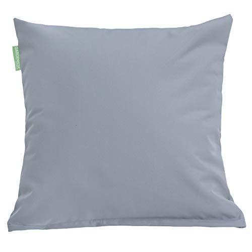 Gardenista Premium Water Resistant Outdoor Hollowfibre Filled 18' Garden Furniture Scatter Cushion (Grey)