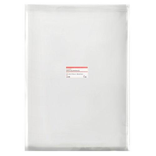 透明OPP袋 テープ付 270×380+フタ40mm ≪B4用≫ 30ミクロン 【100枚】
