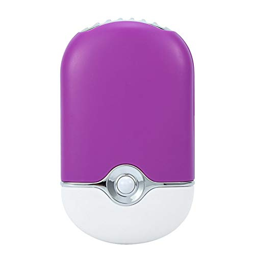 3 colori USB e mini ventilatori portatili, palmare elettrico ricaricabile per asciuga unghie Asciugacapelli per applicazione di estensione delle ciglia(viola)
