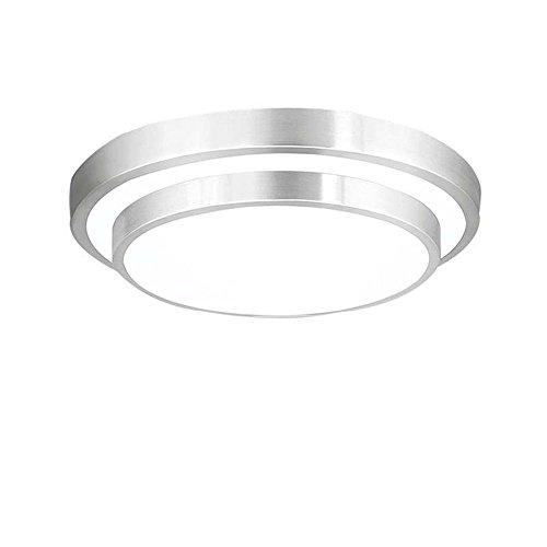 ZHMA 18W Luz Blanco LED Plafón Lámpara De Techo Lámpara, 1440 Lumens, 6000K, Iiluminación Interior, De Techo Pasillo Salón Cocina Dormitorio De La Lámpara Ahorro De Energía De Luz De Plata