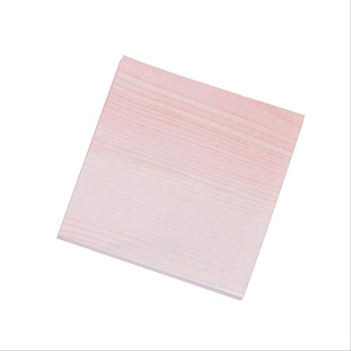 WSGYA Creative Marble Color Self-Adhesive Memo Pad Stone Style Memo Pad Bookmark School Office Stationery 7.2x7cm Striped red
