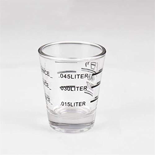 Messbecher 1 stück 30/60 ml kleines hitzebeständiges Espresso-Glas mit Kalibrierung Kaffeetasse verdickte Glaswaage Messbecher Backwerkzeuge (Capacity : 60ml, Color : Black)