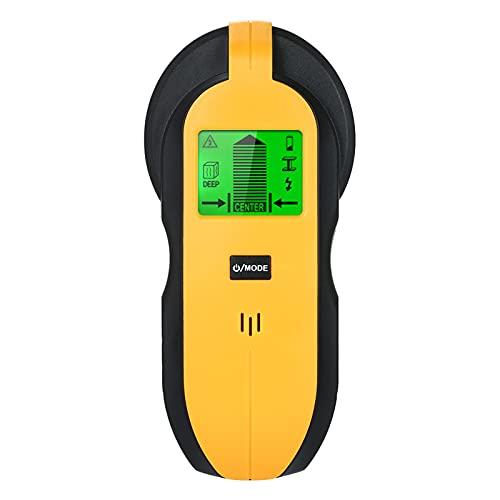 Lifcasual Detector de Pared 4 en 1, Detector de Escáner de Pared Multifunción Para Postes de Alambre de Madera / Metal / CA y Detección de Humedad con Pantalla LCD Retroiluminada