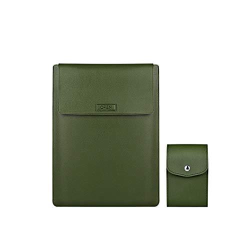 Cubierta Protectora del Soporte para portátiles, Compatible con Apple MacBook-HP-DELL-IBM-Huawei, Color sólido Impermeable y Resistente al Desgaste de la PU Embrague