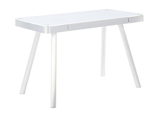 MAJA Möbel Schreib- und Computertisch, Aluminium, Weiß