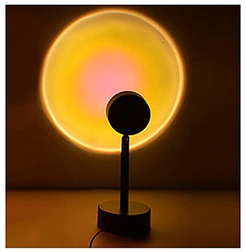GOLOFEA Lámpara de proyección de Puesta de Sol Lámpara de la Puesta de Sol LED Luz del proyector, iluminación de Humor Visual romántico Sun