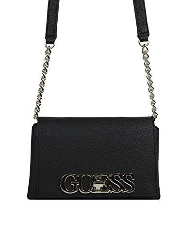 Guess Damen Uptown CHIC Mini XBODY Flap Gepäck-Handgepäck, Black2, Einheitsgröße