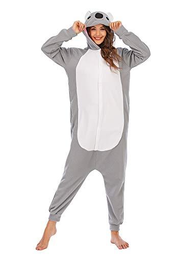 Unisexo Adulto Animal Pijama Cosplay Disfraz con Capucha Onesies Kigurumi Pyjama Homewear Mamelucos Ropa De Dormir para Carnaval Halloween,LTY54,Coala,XL