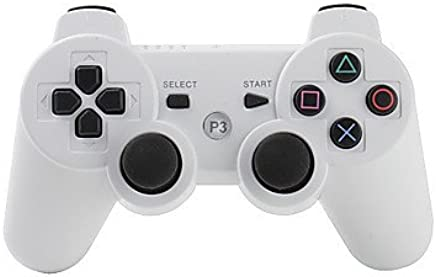 joyland Ps3 Controller Wireless Bluetooth Controller with Charger Cable (white)