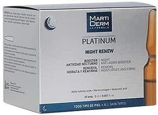 Martiderm Night Renew Platinum   30amp   Night Anti Aging Booster   Regenerates and Moisturizes Skin