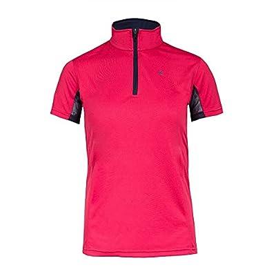 HORZE Kids Technical Sun Shirt - UV Protection - Pink/Peacoat Dark Blue - M/L from Horze