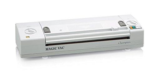 Magic Vac Champion 800mbar Color blanco sellador al vacío - Envasadora al vacío (Color blanco, 800 mbar, 3,45 kg, 500 x 160 x 100 mm)