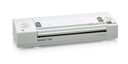 Magic Vac Champion 800mbar Color blanco sellador al vacío - Envasadora al vacío (Color blanco, 800 mbar, 3,45 kg, 500 x 160 x 100 mm)