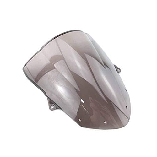 Spoiler Windschutzscheibe Windschutz Double Bubble Fit For Kawasaki Ninja ZX6R 636 09-19 ZX6R ZX10R 08-10 Windabweiser Bildschirm ZX 6R Zx 10R (Color : Smoke)