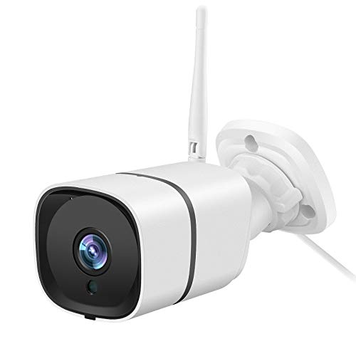 Netvue 2K Security Camera Outdoor, IP66 Outdoor Cameras for Home Security, H.265 High-Efficiency Video Coding and 8X Zooms Function, Motion Detection, 2-Way Audio, 2.4GHz WiFi, Support Alexa/Cloud/SD