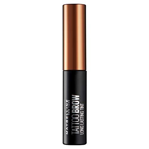 Maybelline Tattoo Brow Augenbrauenfarbe Nr. 3 Dark braun, trendige Augenbrauenfarbe mit bis zu 3 Tage Halt, 5 g