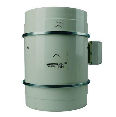S&P TD 2000/315 halbradial - Ventilador de tubería (2000 m3, para tubos de 315 mm)