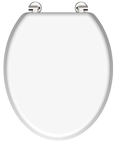 SCHÜTTE WC-Sitz - Toilettendeckel | Klodeckel ohne Absenkautomatik | Holzkern | Weiß | 19399
