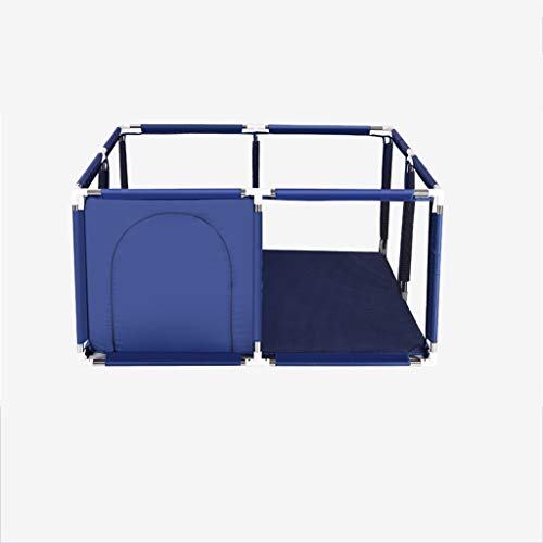 C-J-Xin Family Protective Fence, Indoor Living Room Fence Baby's Creepy Fence/Blue, Pink, Red, Light Blue Green/128 * 128 * 66CM Play Tents (Color : Blue, Size : 128 * 128 * 66CM)