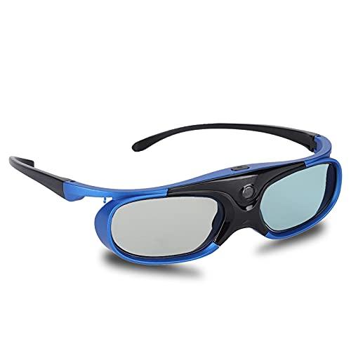 DLP Link 3D-Brille, HD Active Shutter Wiederaufladbare 3D-Brille Universal für Sony für BenQ für Epson für Acer für Hitachi für Sharp DLP-Projektoren