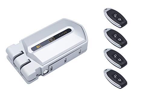 Cerradura invisible con Alarma 95db y 4 mandos incopiables