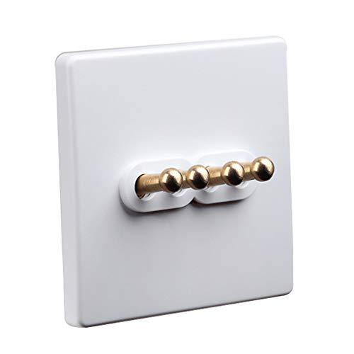 FSJKZX Interruptor Blanco Hogar Hotel Palanca De Latón De Metal Doble Control Interruptor De Alimentación De Múltiples Vías Oficina Sala De Reuniones Tipo 10A68 (Color : Blanco, Size : 4)