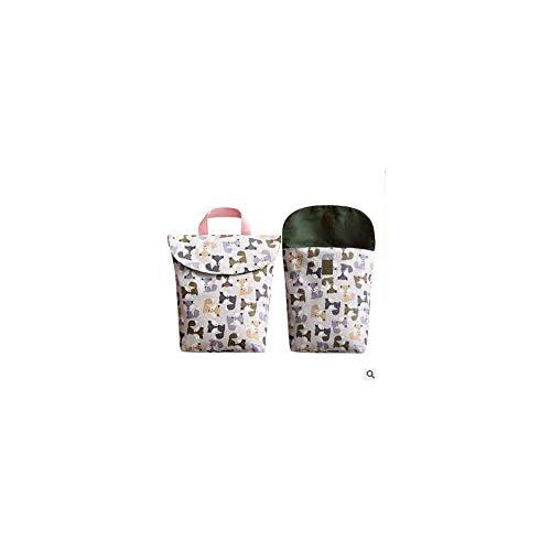 Yuyanshop Bolsa de pañales para bebés, bolsa organizadora de pañales de viaje portátil impermeable con asa - Oso azul/L
