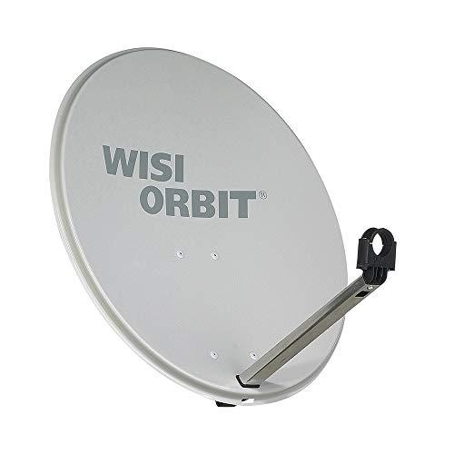WISI 75606 OA36G Orbit Line Satelliten Offset-Antenne (RAL 7035) – 60cm Reflektor mit 40mm LNB-Halterung, Feedarm und Mastschellen – Montagezubehör lichtgrau