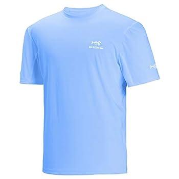 Bassdash Men's UPF 50+ Sun Protection Fishing Shirt Short Sleeve UV T-Shirt
