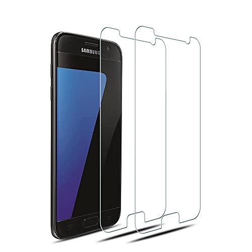 MC WHLZD Panzerglas für Samsung Galaxy S7 Schutzfolie [2 Stück], 9H Härte Blasenfrei Schutzglas, Ultra-klar, 2.5D Runde Kante Displayschutz Kompatibel mit Samsung S7
