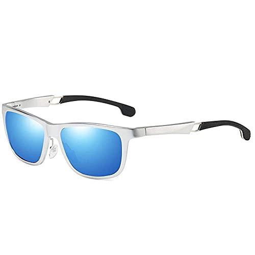 wangpu Gafas de sol estilo para hombre, montura completa, de aluminio, magnesio, antirreflejos, polarizadas, para conducción (color gris, tamaño: talla única)