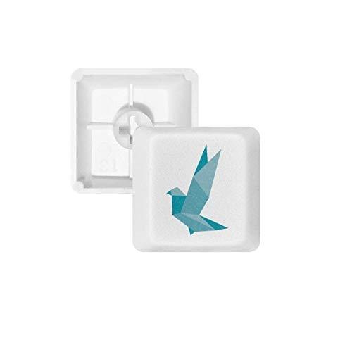 DIYthinker Patrón de Origami Resumen Grenn Pigeon PBT Nombres de Teclas de Teclado mecánico Blanca OEM No Marcado Imprimir R3