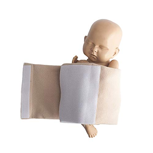 Newborn Baby Photography Props Posing Wraps Assistant Professional Posture Wrap for Studio Photo Props Accessories Beige