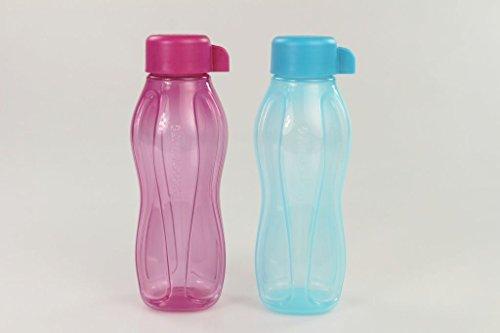 TUPPERWARE To Go Eco 310ml pink + blau Trinkflasche Flasche Ökoflasche EcoEasy 27288