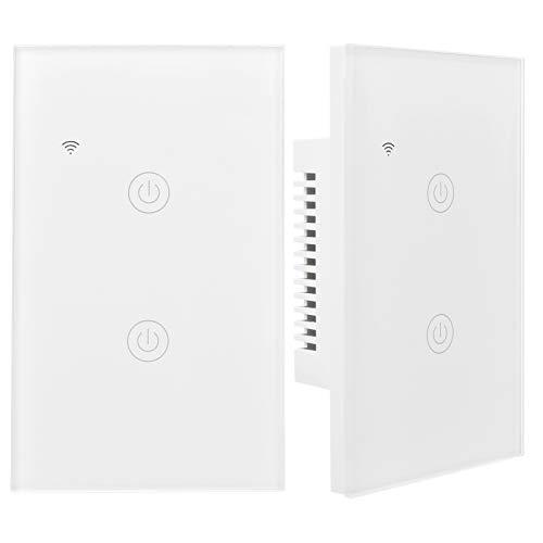VINGVO Interruptor Inteligente, Interruptor de luz inalámbrico Blanco de Alto Rendimiento Funcional para PC, Balcón para Luces Ventiladores de Techo para Dormitorio