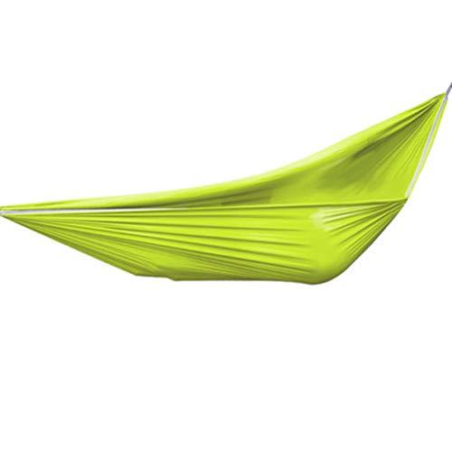 WXGM Hamac extérieur en Toile Double, Confortable et portatif, renforcement Audacieux (Couleur : Green, Taille : 260×150cm)