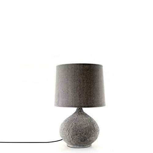 Gicos Lampe Chevet Como lume céramique Gris Design cm 30 x 34 x 53 H