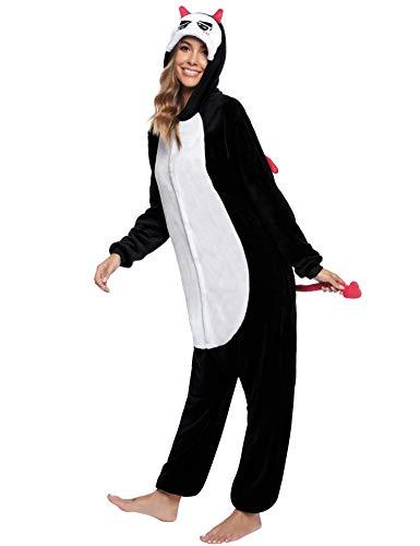 Sykooria Halloween Onesie Pijamas con Capucha Mono Esqueleto