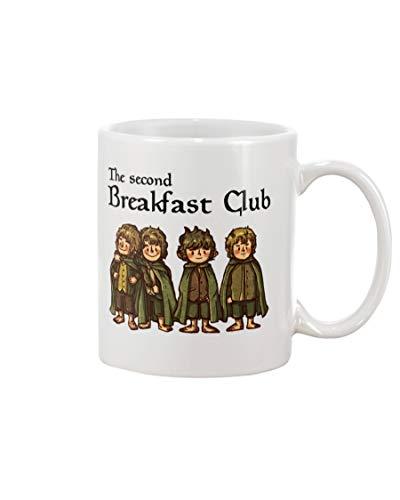 The Second Breakfast Club Mug With Handle, Insulated Ceramic Reusable Coffee Cup, Coffee Travel Mug