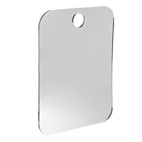 Barcley Anti Fog Shower Mirror, Bathroom Fogless Fog Free Mirror for Washroom Travel, Best Shower Shave Mirror, Acrylic Shaving Mirror Bathroom Anti-Fog Mirror (Silver)