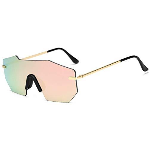 xiahe Sonnenbrille Metallrahmenlose Farbfilm Sonnenbrille - Sonnenbrillen Polarisierte Brille Einkaufen Brille UV400 Schutz Unisex, Material: PC + Metall Größe: Wie Gezeigt