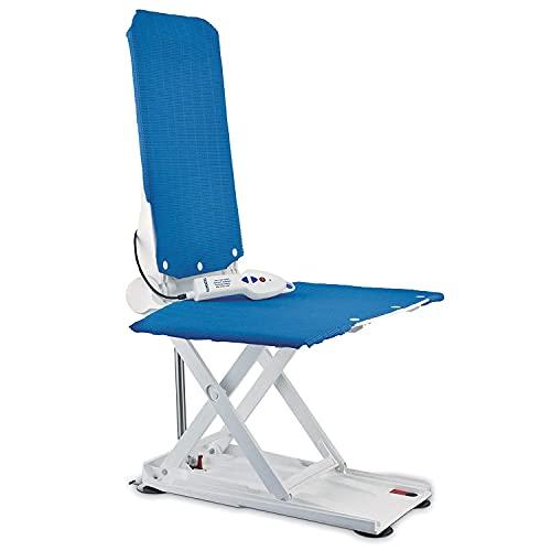 Elevador de baño reclinable - Invacare Aquatec Orca Bath Lift - Ayuda para el baño y seguridad - Cubiertas azules