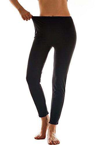Lovache Badehose Damen Lang Schwarz Schwimmhose UV Schutz Wassersport Legging Yoga Sportleggings