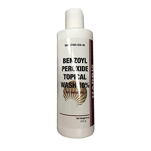 Harris Pharma 10% Benzoyl Perox Wash 8 oz (PACK OF 2)