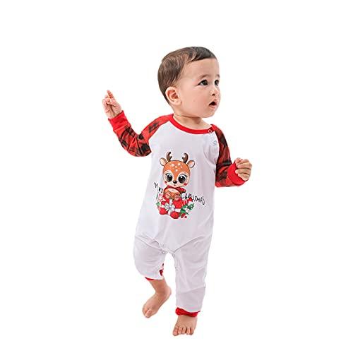Christmas Pyjama Weihnachten Schlafanzug Familie Pyjama Set Schlafanzüge Lang aus Nachtwäsche für Damen Herren Mädchen Jungen