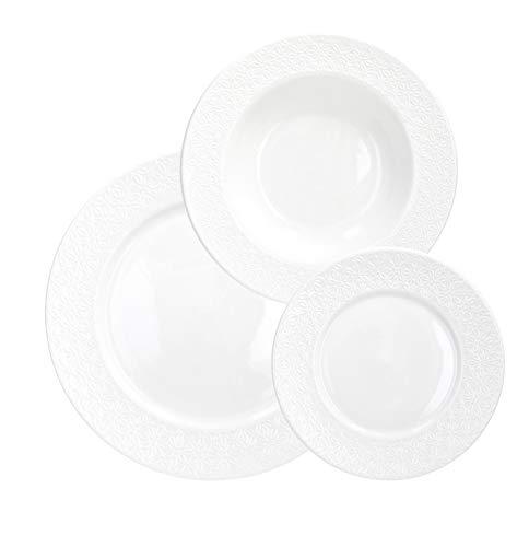 piatti servizio bianco Tognana Servizio tavola 18 Pezzi Margaret
