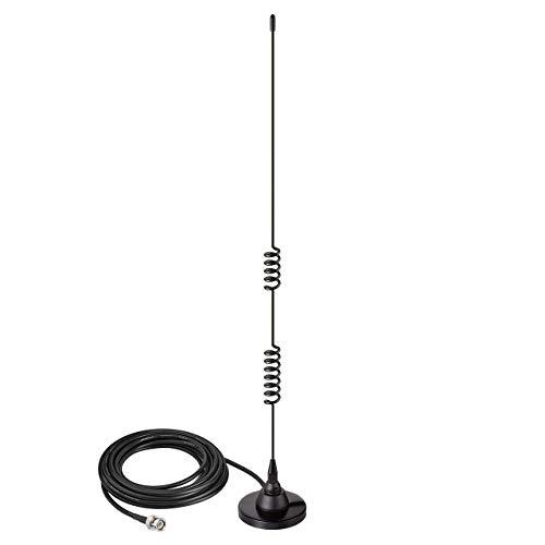 Bingfu Antenna Scanner Radio Veicolare Base Magnetica 20MHz - 1300MHz BNC Maschio Radio CB VHF UHF Compatibile con Uniden Bearcat Whistler Radio Shack Camion Auto Walkie Talkie Radio Scanner Polizia