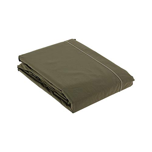 Drap Plat Percale 270x300 Taupe - Couleur: Taupe