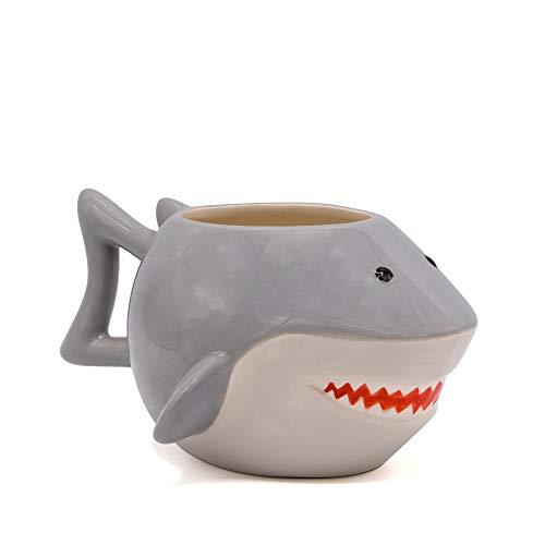 Product Image 3: Silver Buffalo JW13063D Jaws Shark Ceramic 3D Sculpted Mug, 20-ounces, Grey