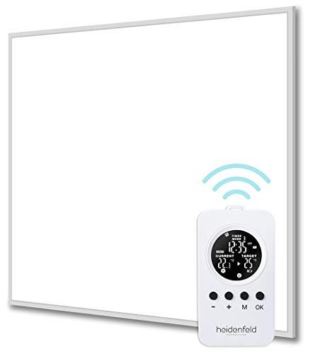 Heidenfeld Infrarotheizung HF-HP100/110 Weiß - 10 Jahre Garantie - inkl. Thermostat - Deutsche Qualitätsmarke - TÜV GS - 300 - 1200 Watt - 3 - 28 m² (HF-HP110 1200 Watt)